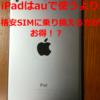 【超お得】au回線の格安SIMでiPadが運用できる?mineoやUQmobileが絶対に節約になる!