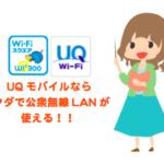 UQmobileはau系格安SIMで唯一公衆無線LANを使える?/利用方法と詳細