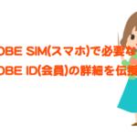 BIGLOBE SIMのBIGLOBE ID(会員)って何?家族などで複数契約を利用する場合には