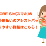 BIGLOBE SIM(スマホ)の端末分割支払いのアシストパックをわかりやすく解説!