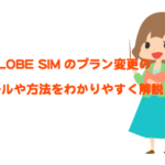 BIGLOBE SIMのプラン変更/コース変更/SIMカードサイズ変更を徹底解説!