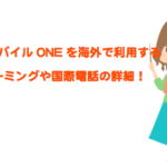OCNモバイルONEを海外で利用する国際ローミングと国際電話の詳細を徹底伝授!