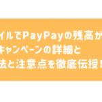 Ymobile(ワイモバイル)でのPayPayの設定(連携)方法と1000円もらえるキャンペーンをわかりやすく解説!